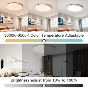 Smart flush mount led ceiling light