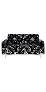Loveseat Sofa Slip Covers, Black Classic European Slipcover Sofa, High Stretch Sofa Cover