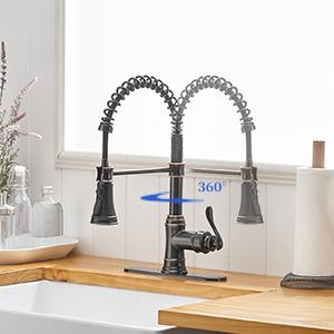 Sensor Sink Faucet Antique Bronze Pull Down