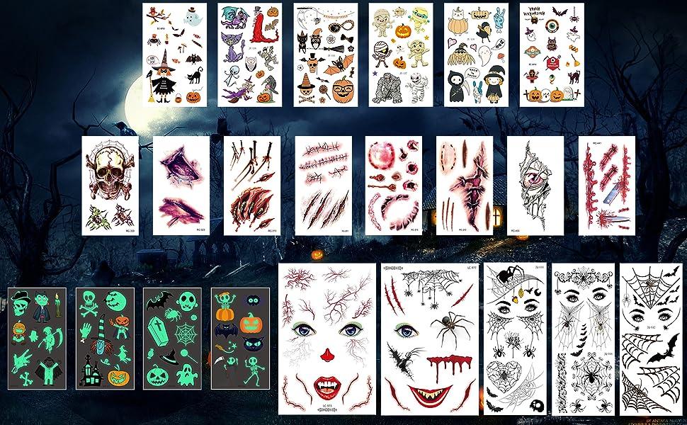 Halloween tattoos stickers