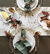 Winter snowflake themed Tablescape