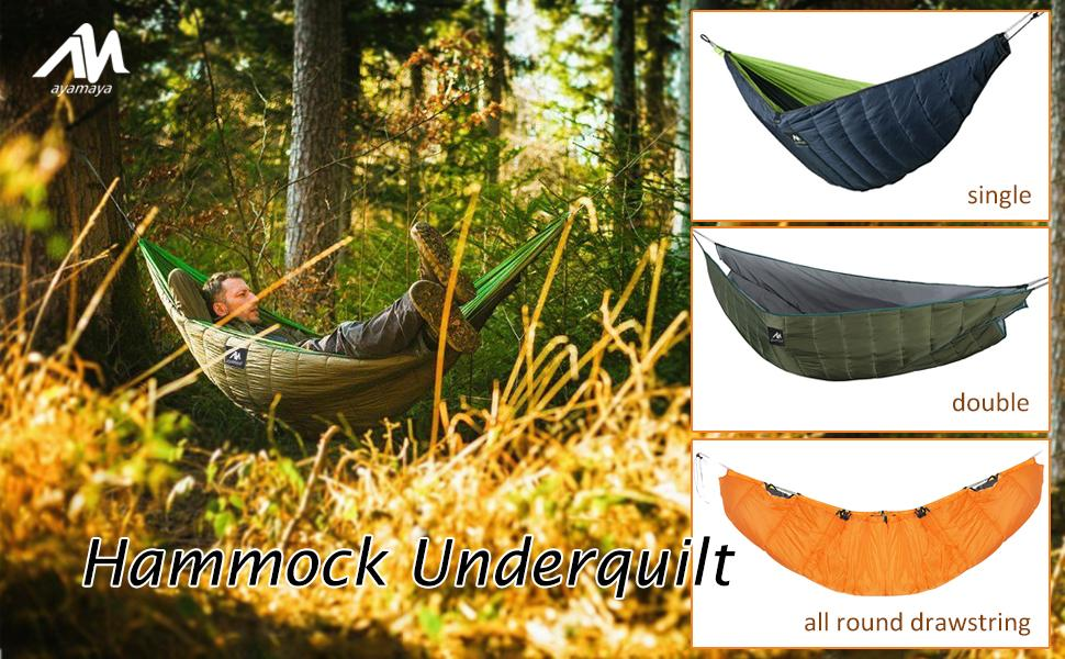 Hammock Underquilt for Single & Double Hammock