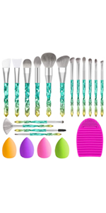 Crystal handle Makeup Brush Set