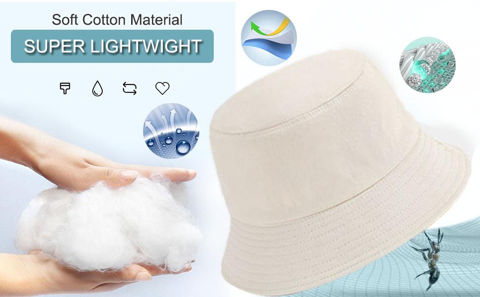 Bucket Hat Unisex Packageable Lightweight Outdoor Hot Fun Summer Beach Vacation Headwear