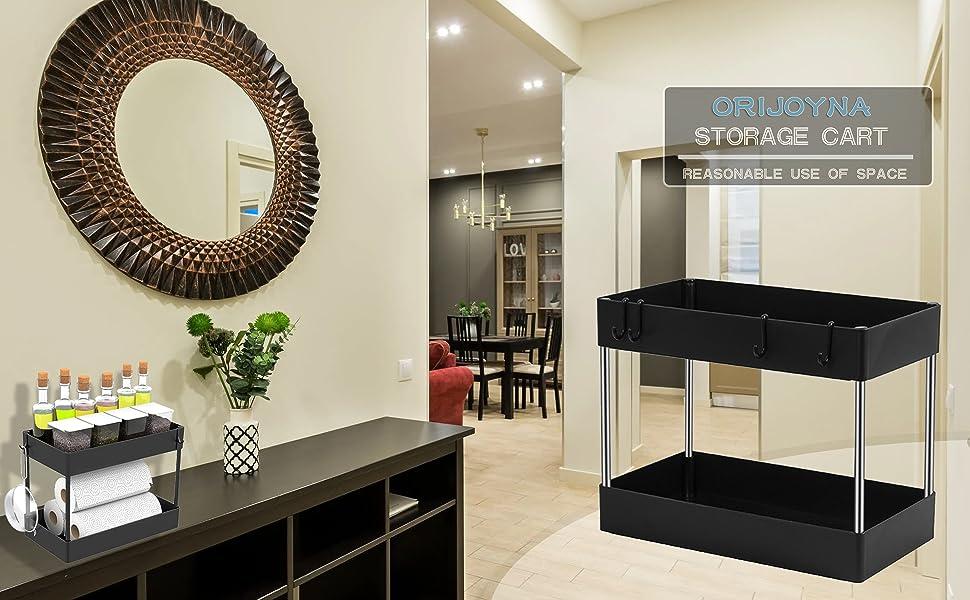 Dual Shelves Light Duty Storage Shelves