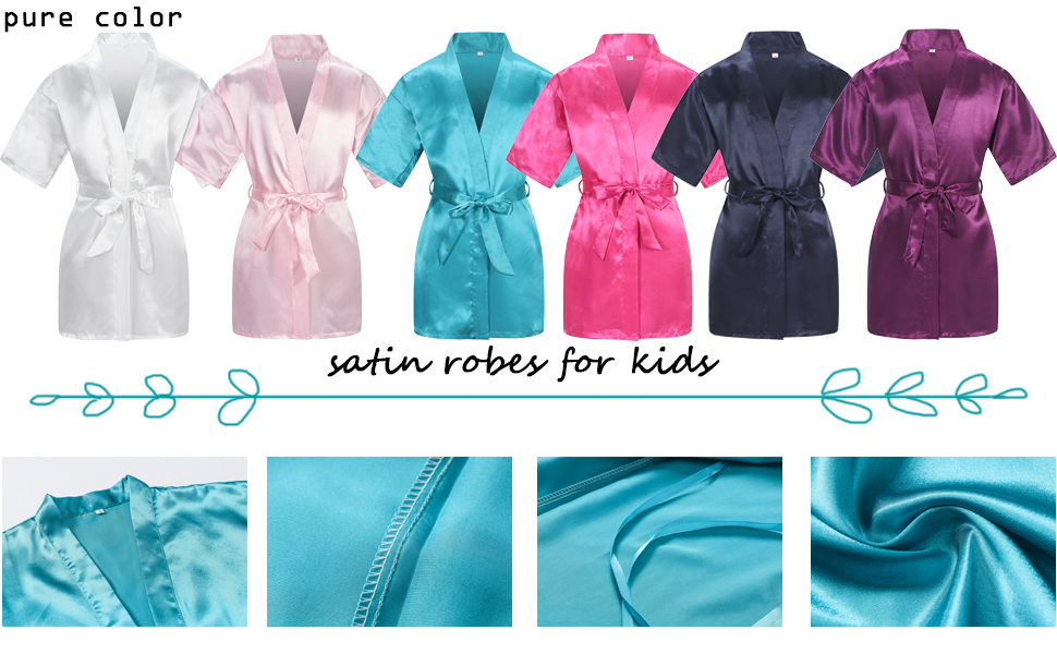 pure color robe for kids