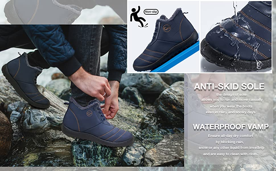 snow boots for men mens snow boot shoe ski winter boots sneaker ankle booties waterproof work cowboy