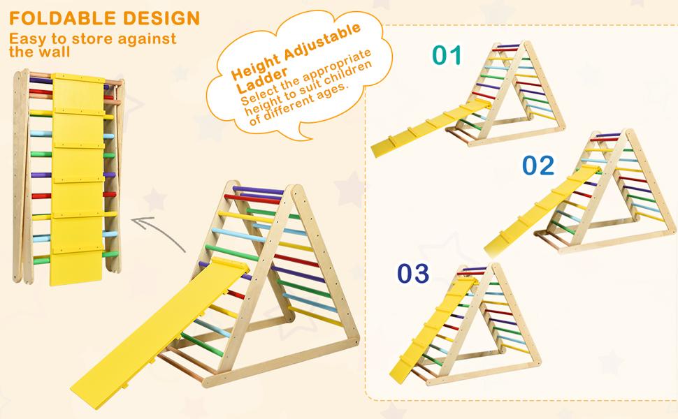 foldable & height adjustable