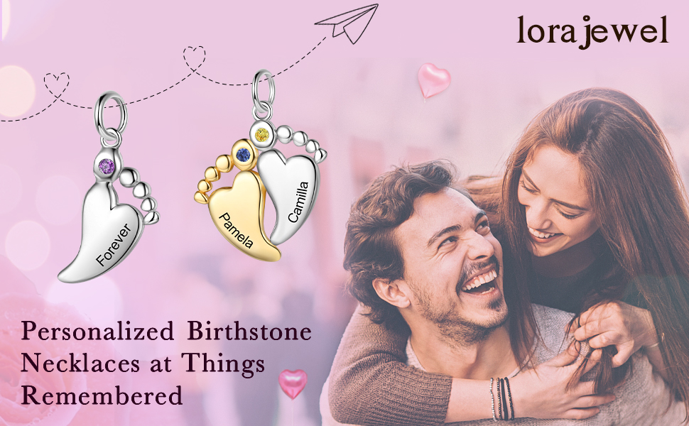 personalized birthstone necklaces