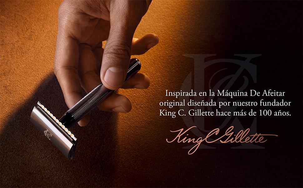 King C. Gillette Máquina de Afeitar de Doble Filo y Recambios