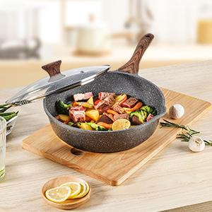large saute pan with lid