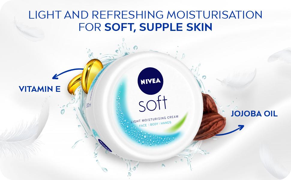 Nivea Soft, cream, for body face hand, moisturizer