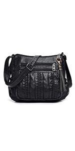 Purses for Women Pocketbooks Soft PU Leather Ladies Crossbody Purse Multi Pocket Shoulder Ba