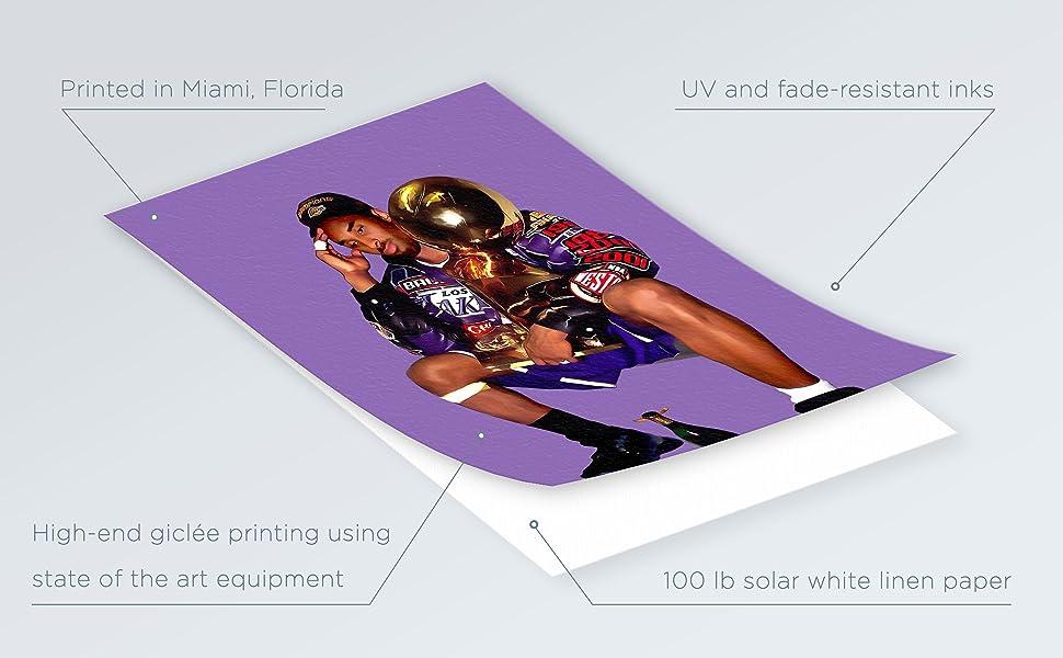 apartment room decor kobe bryant basketball lakers bedroom wall decor  kobe painting poster