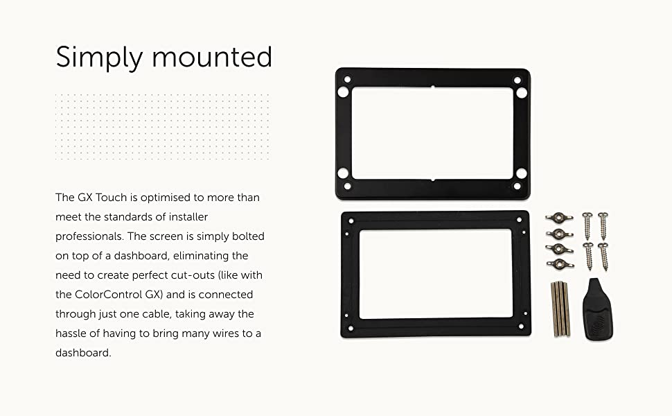 MountedSimply Mounted Victron Energy GX Touch 50