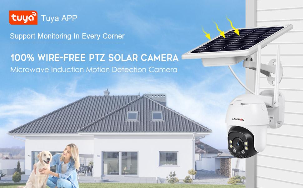 wifi solar ptz