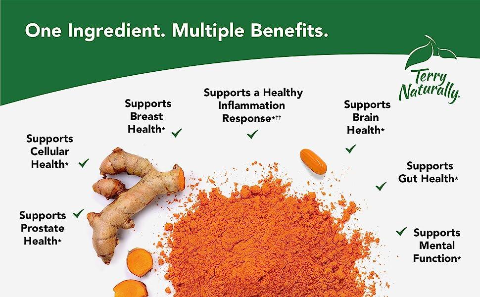 One Ingredient. Multiple Benefits. Curcumin.