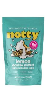 lemon almond butter cups
