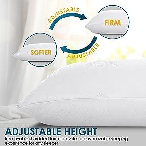 adjustable bed pillow,adjustable pillow,bamboo adjustable pillow