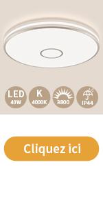 Öuesen Plafonnier LED 40w 4000k 3800m 38cm