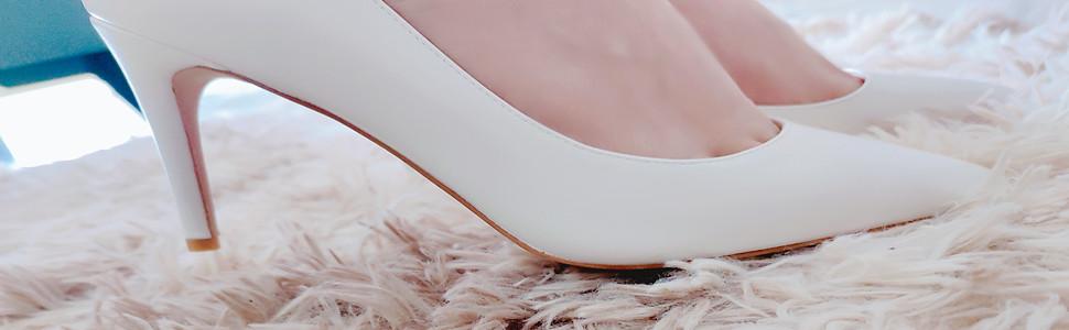 Inside empty high heels