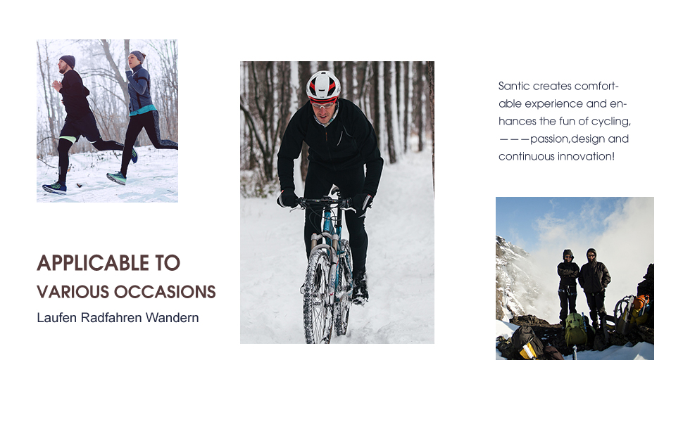 Winter Fahrradhose Lang Herren