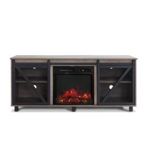fireplace storage cabinet