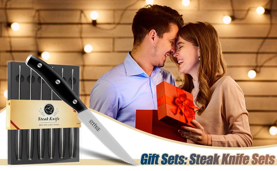 steak knife set - 1