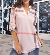 Womens Tunic Tops Casual Floral Shirts