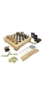 Deluxe 7 in 1 Board Game Set