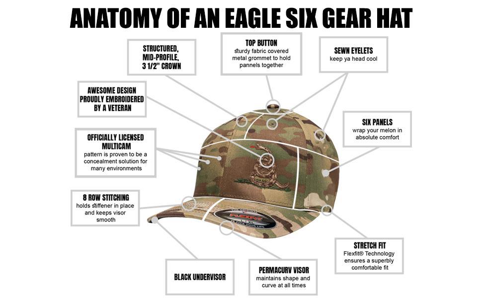 multicam hat Eagle Six Gear