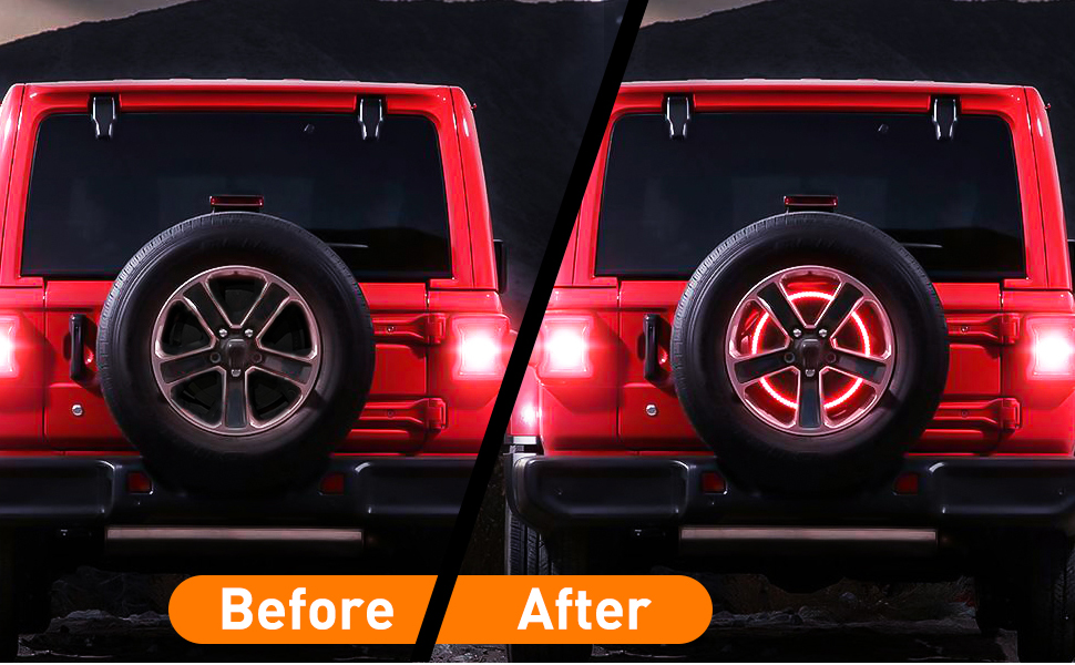Nilight Spare Tire Brake Light For  Jeep Wrangler JK JKU JL JLU