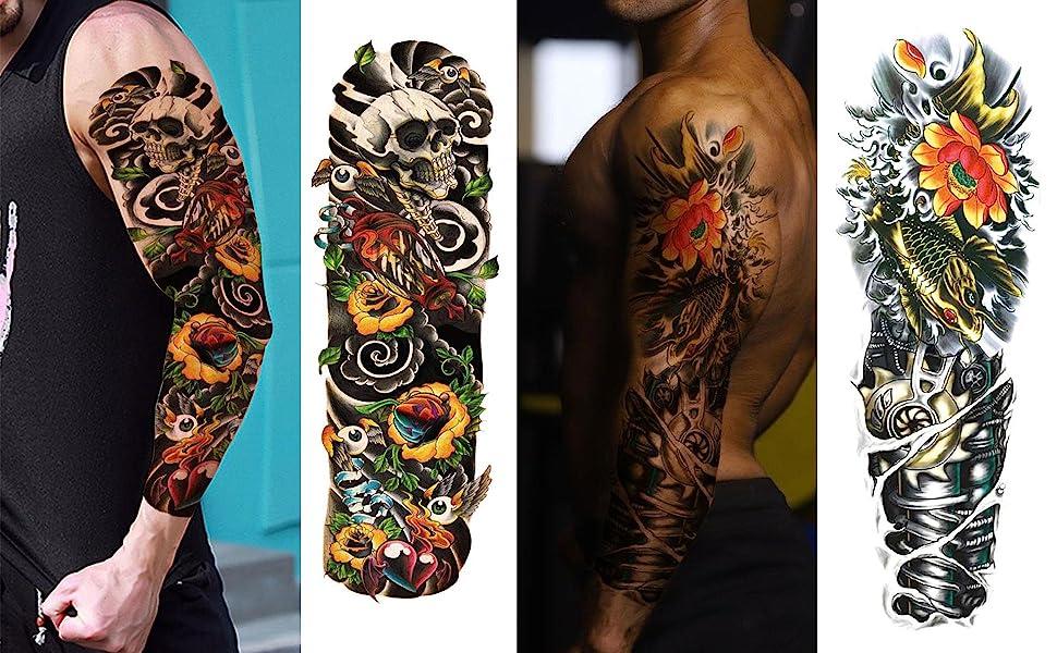 Sleeve Tattoo for Men Women 12 Sheets