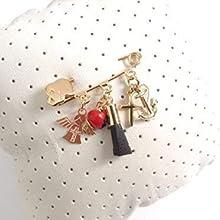 Genuine Azabache Crib Pin Jogger Brooch Peonia Angel Cross Pendants Amuletos de Protection
