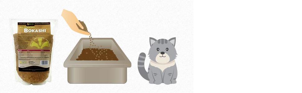 bokashi cat litter odor reducer