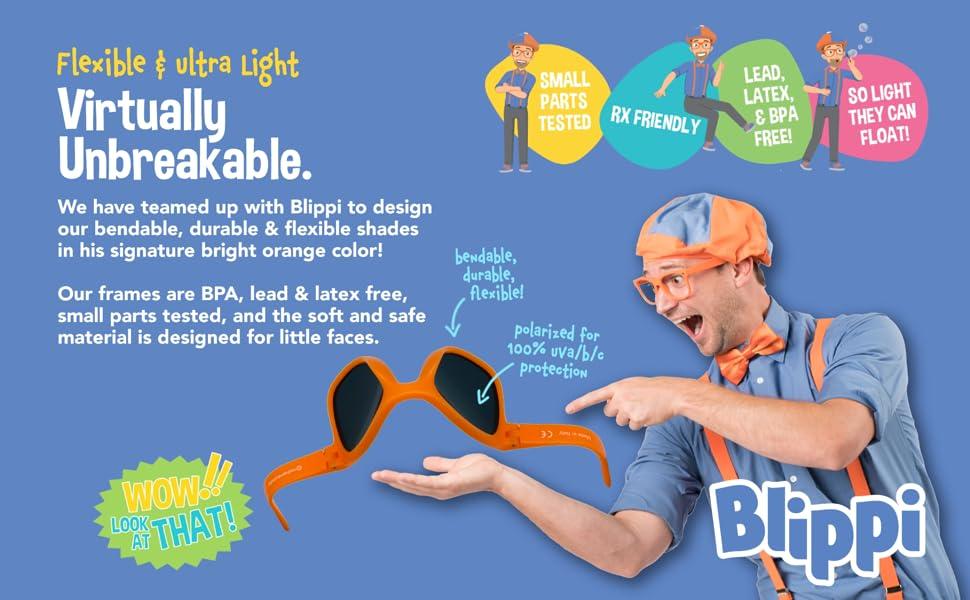 Blippi - Virtually Unbreakable Flexible and Ultra Light Glasses