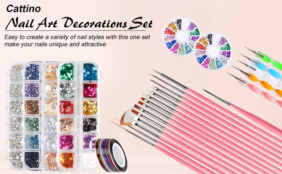 Cattino Nail Art Decorations Set