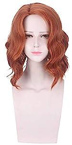 Black Widow Cosplay Wig