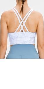 lavento women's strappy sports bra