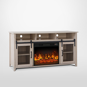 television cabinet with fireplace