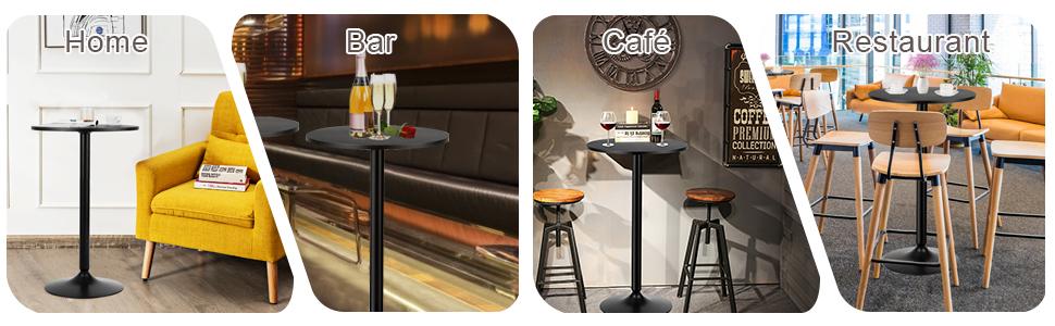Pub Bar Table 24-Inch