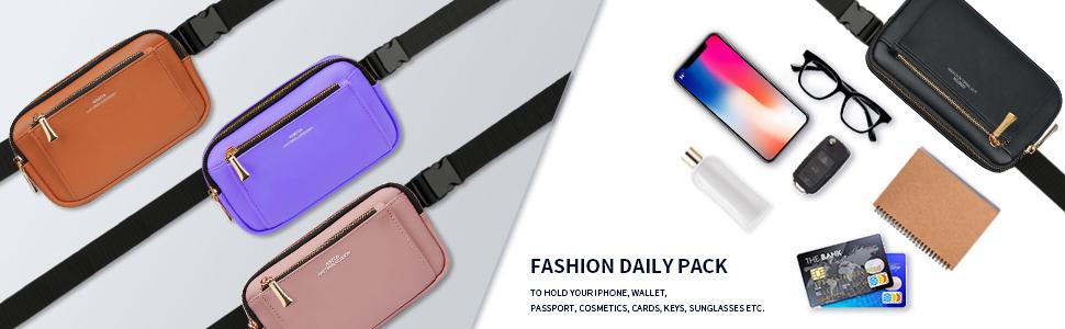fanny packs for women fashion cute fanny pack for girls kids plus size waist bag black purple pink