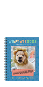 We Only Rate Dogs planner