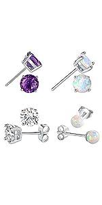sterling silver earrings set