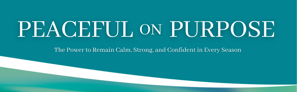 header image of peaceful on purpose by New York times bestselling author and pastor Joel Osteen