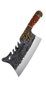 meat cleaver bone chopper butcher knife hand forged chopping knife meat cutting carbon steel
