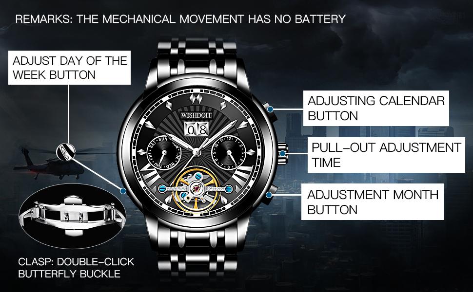 Multifunctional mechanical men's watch