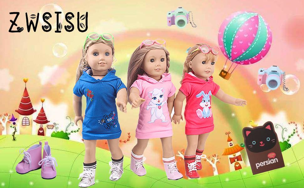 A dress suit suitable for 18-inch dolls.