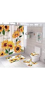Sunflower Shower Curtain Set