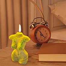 Sexy female candle mold, add more romantic atmosphere.